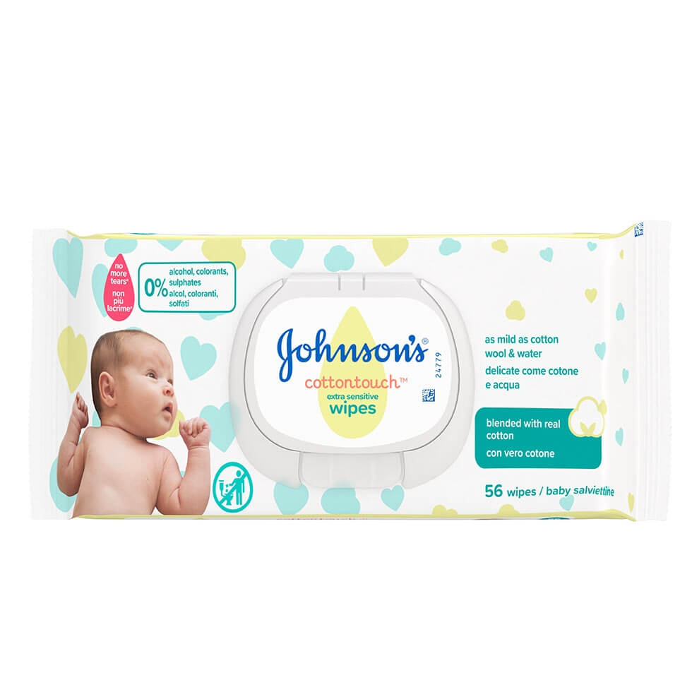 JOHNSON'S® Μωρομάντηλα Cottontouch™