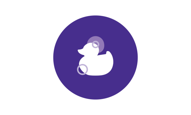 Johnson's® baby bedtime routine warm bath duck icon